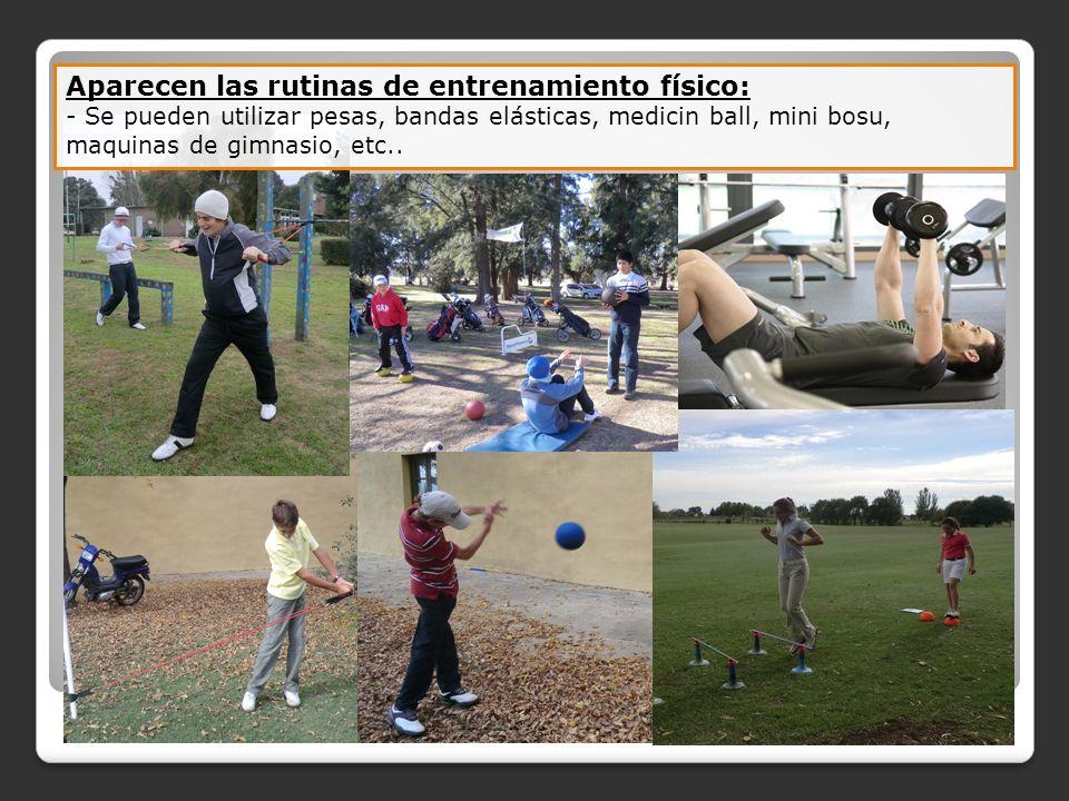 Aparecen las rutinas de entrenamiento físico: