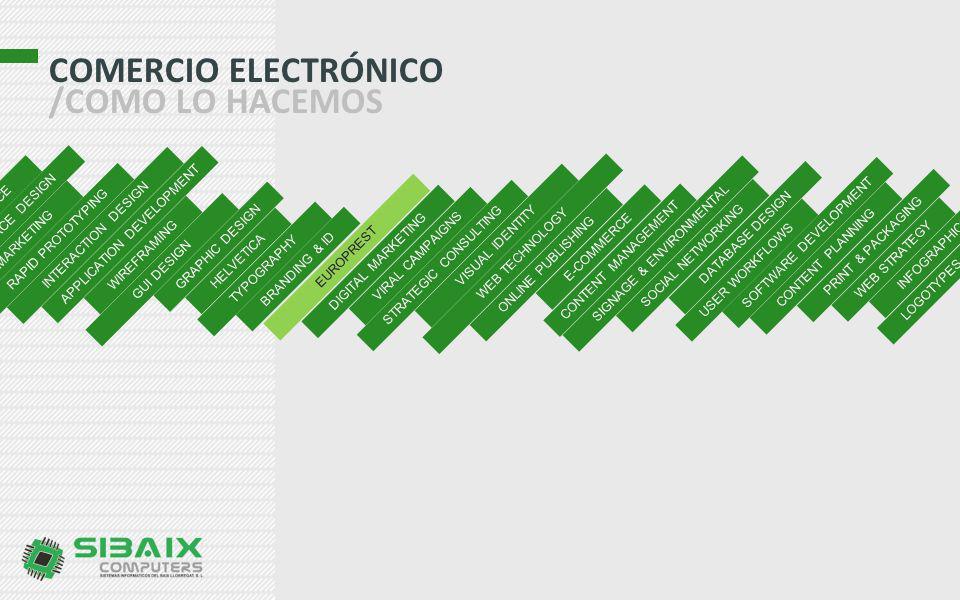 COMERCIO ELECTRÓNICO /COMO LO HACEMOS