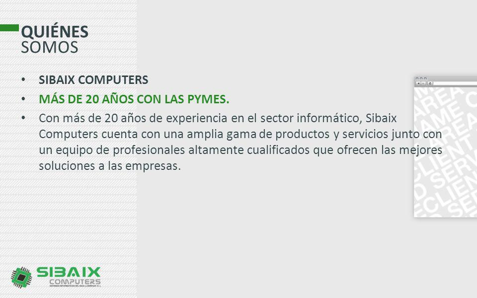 QUIÉNES SOMOS SIBAIX COMPUTERS MÁS DE 20 AÑOS CON LAS PYMES.