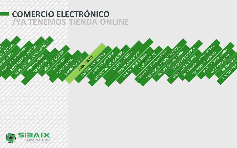 COMERCIO ELECTRÓNICO /YA TENEMOS TIENDA ONLINE
