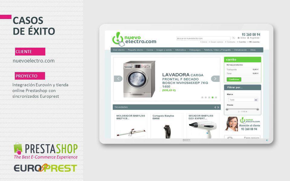 CASOS DE ÉXITO nuevoelectro.com CLIENTE PROYECTO