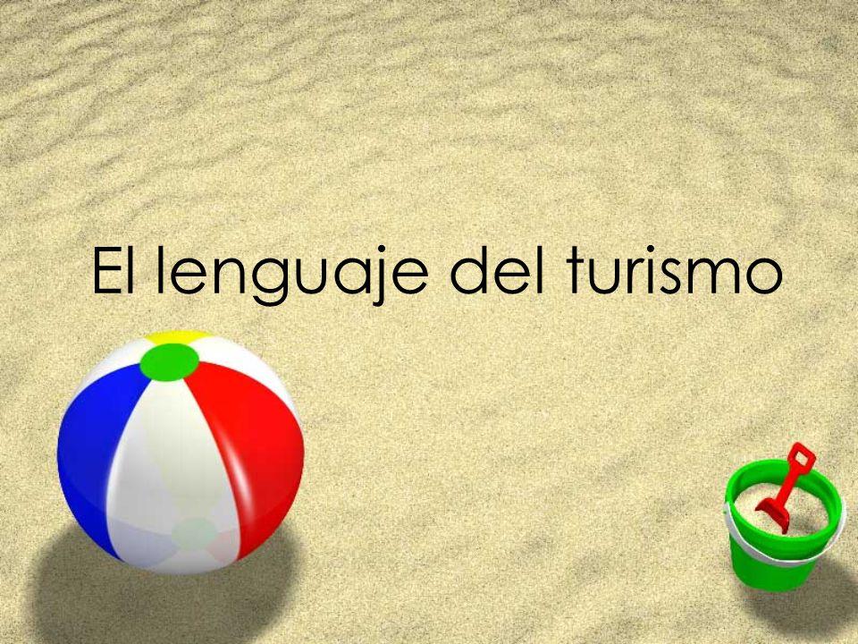 El lenguaje del turismo