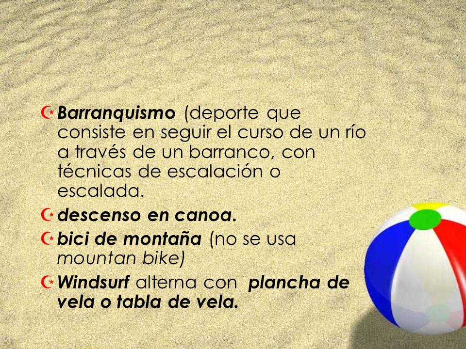 Barranquismo (deporte que consiste en seguir el curso de un río a través de un barranco, con técnicas de escalación o escalada.