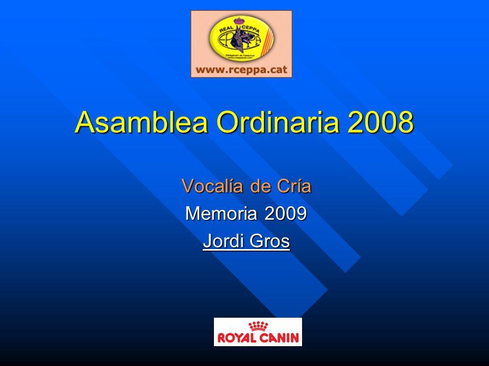 Vocalía de Cría Memoria 2009 Jordi Gros