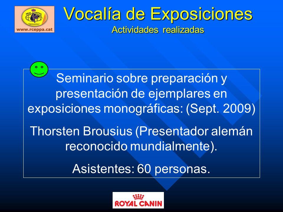 Vocalía de Exposiciones Actividades realizadas