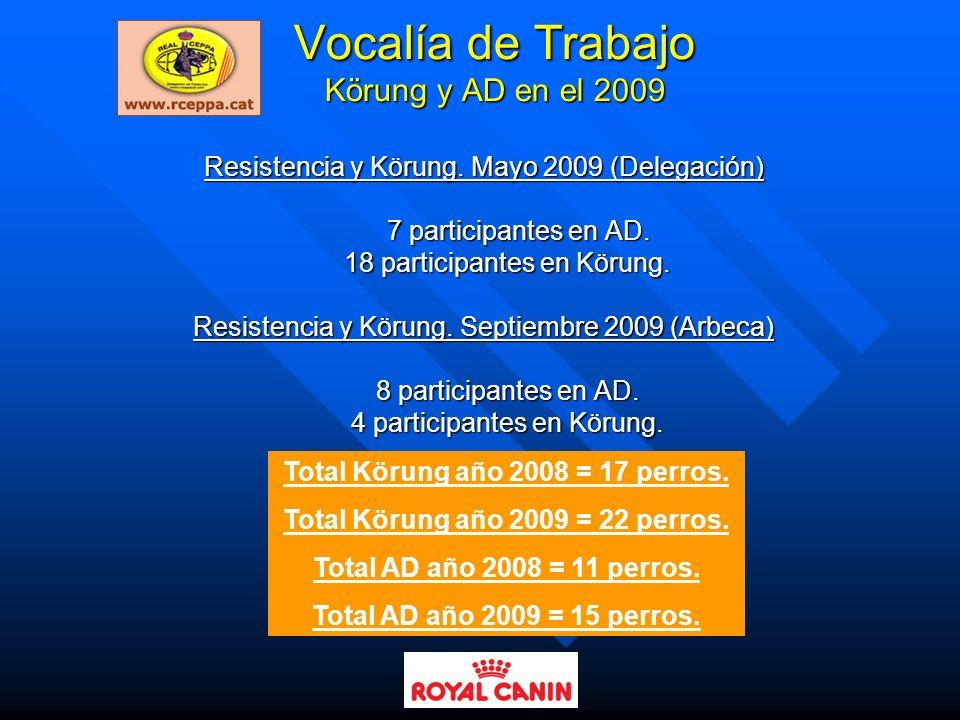 Vocalía de Trabajo Körung y AD en el 2009