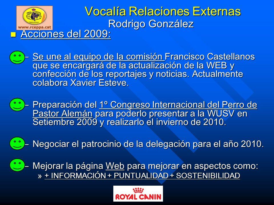 Vocalía Relaciones Externas
