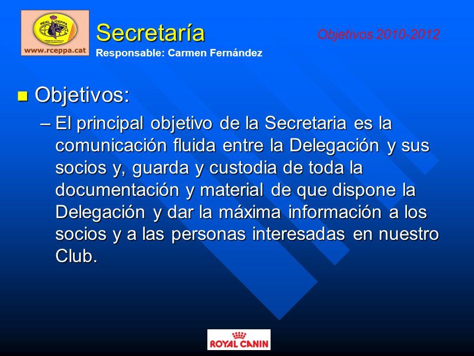 Secretaría Objetivos: