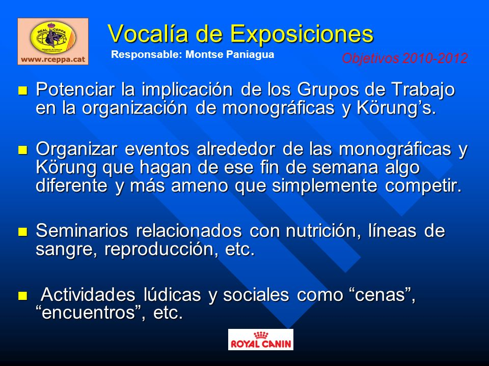 Vocalía de Exposiciones
