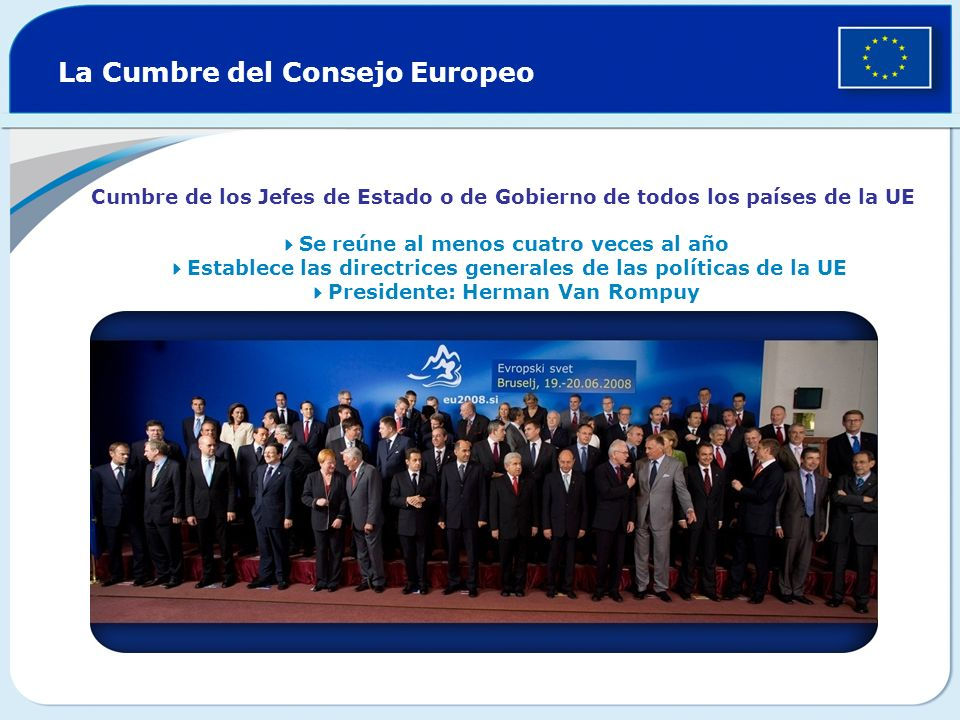 La Cumbre del Consejo Europeo