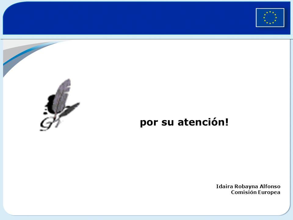 por su atención! Idaira Robayna Alfonso Comisión Europea