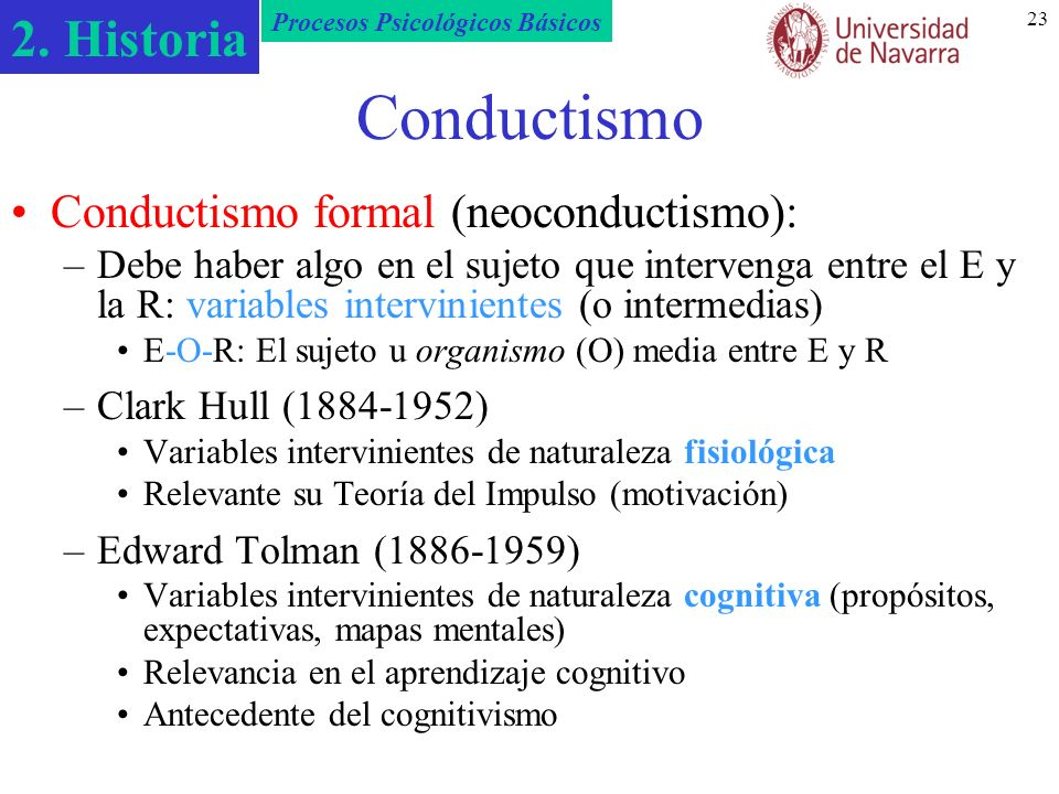 Conductismo Conductismo formal (neoconductismo):
