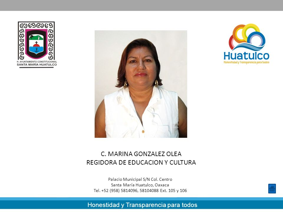 REGIDORA DE EDUCACION Y CULTURA