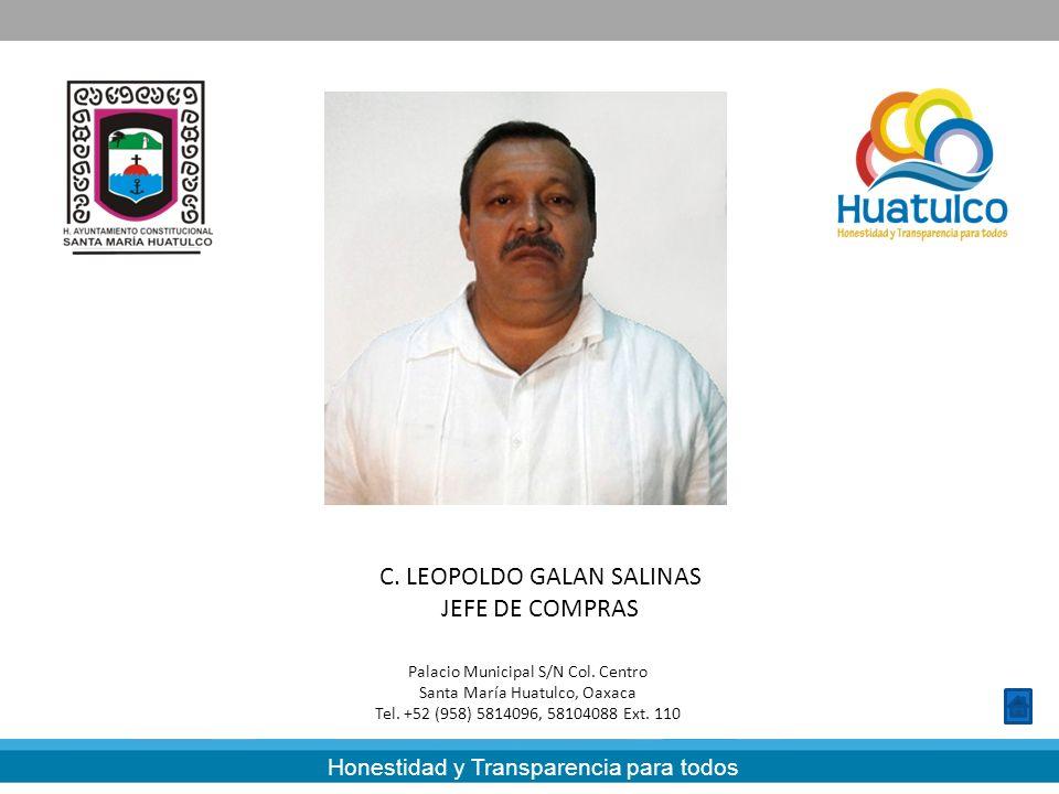 C. LEOPOLDO GALAN SALINAS JEFE DE COMPRAS