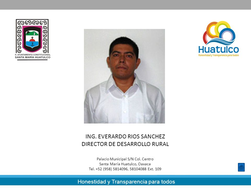 ING. EVERARDO RIOS SANCHEZ DIRECTOR DE DESARROLLO RURAL