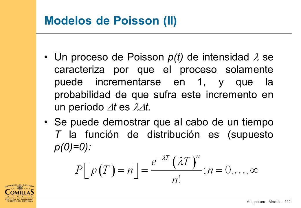 Modelos de Poisson (III)