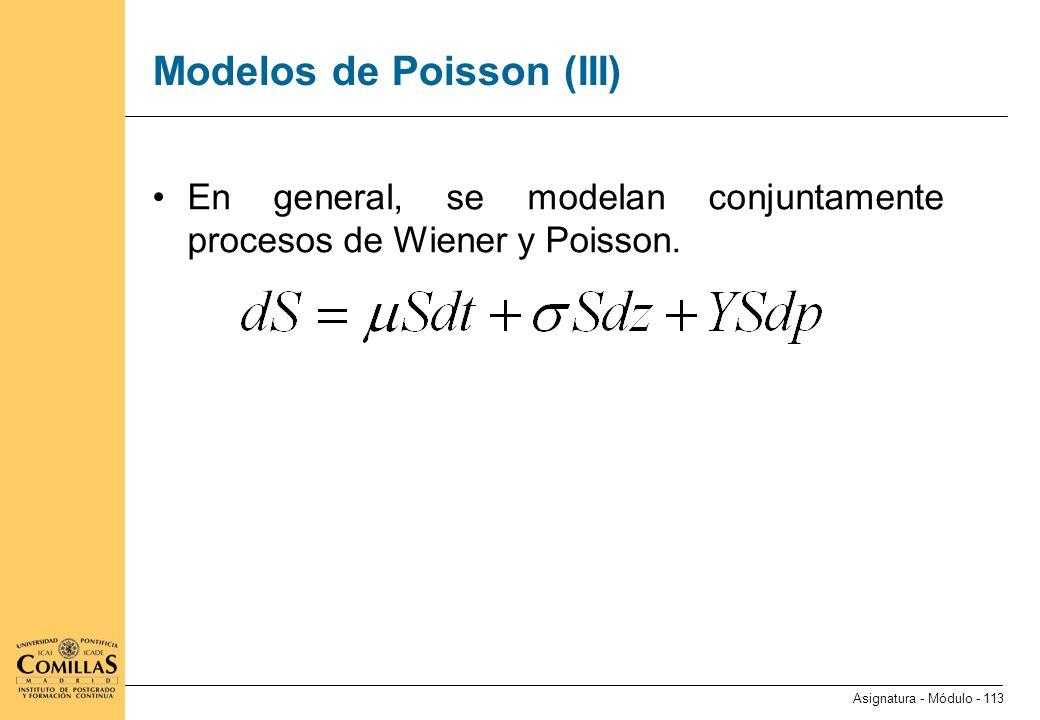 Modelos de Poisson (IV)