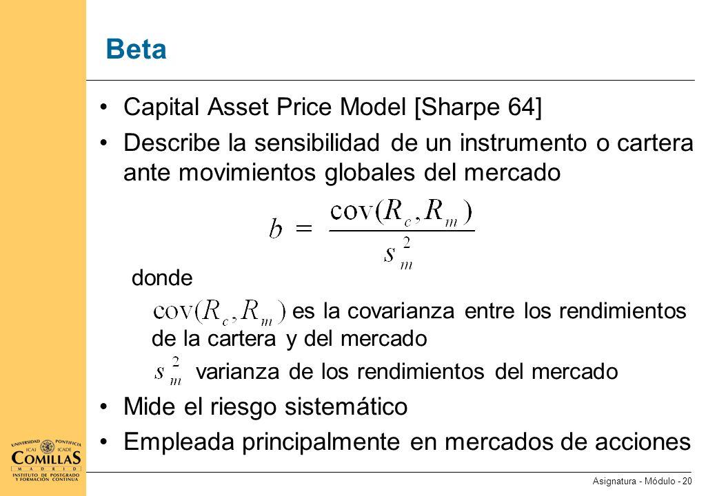 Duración y convexidad Mercados de renta fija Duración Convexidad