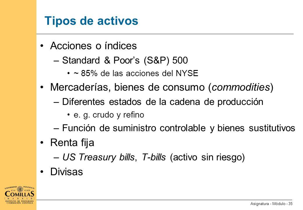 Clases de derivados Contratos a plazo Permutas financieras (Swaps)