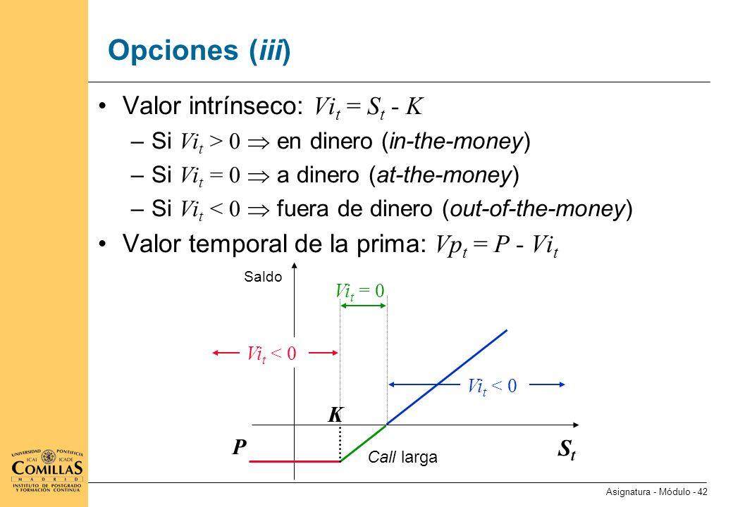 Opciones (iv) Ejemplos de opciones complejas Opciones corporativas