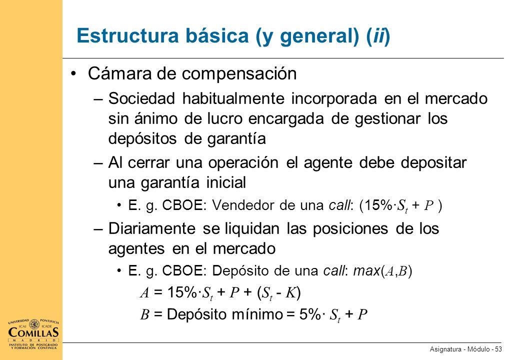 Especificación de un contrato de futuros