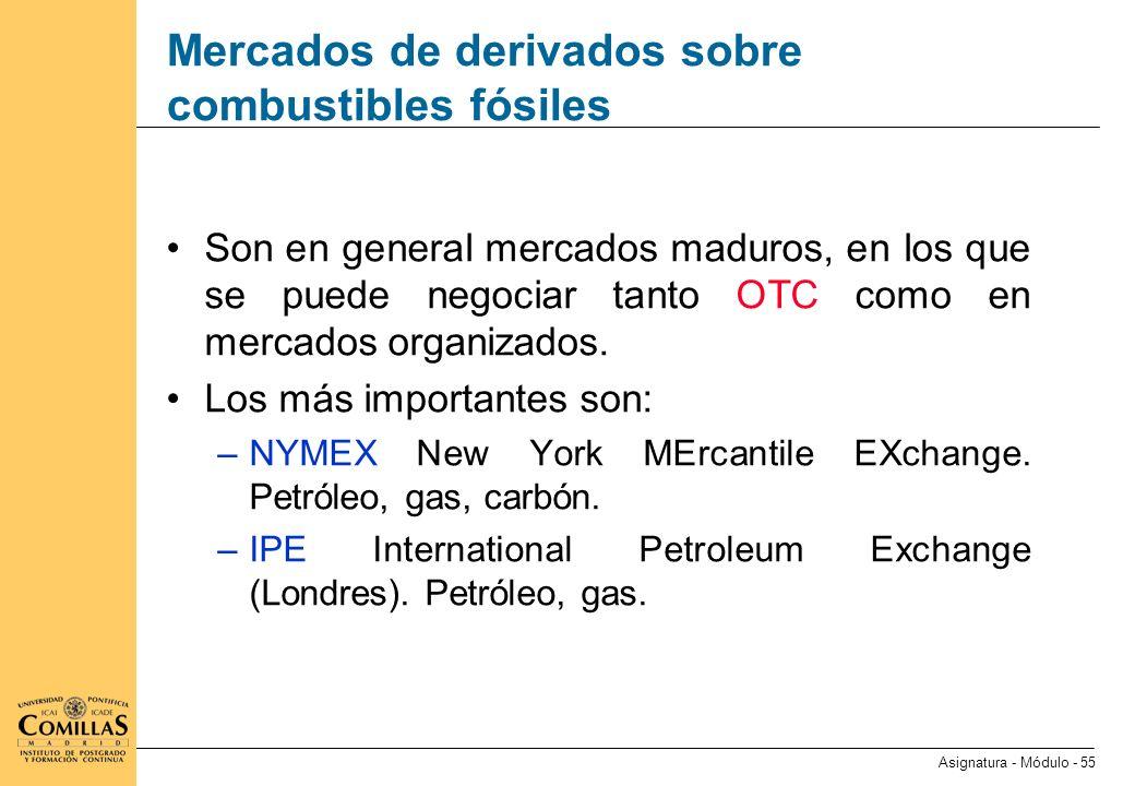 Mercados de derivados sobre el petróleo (I)