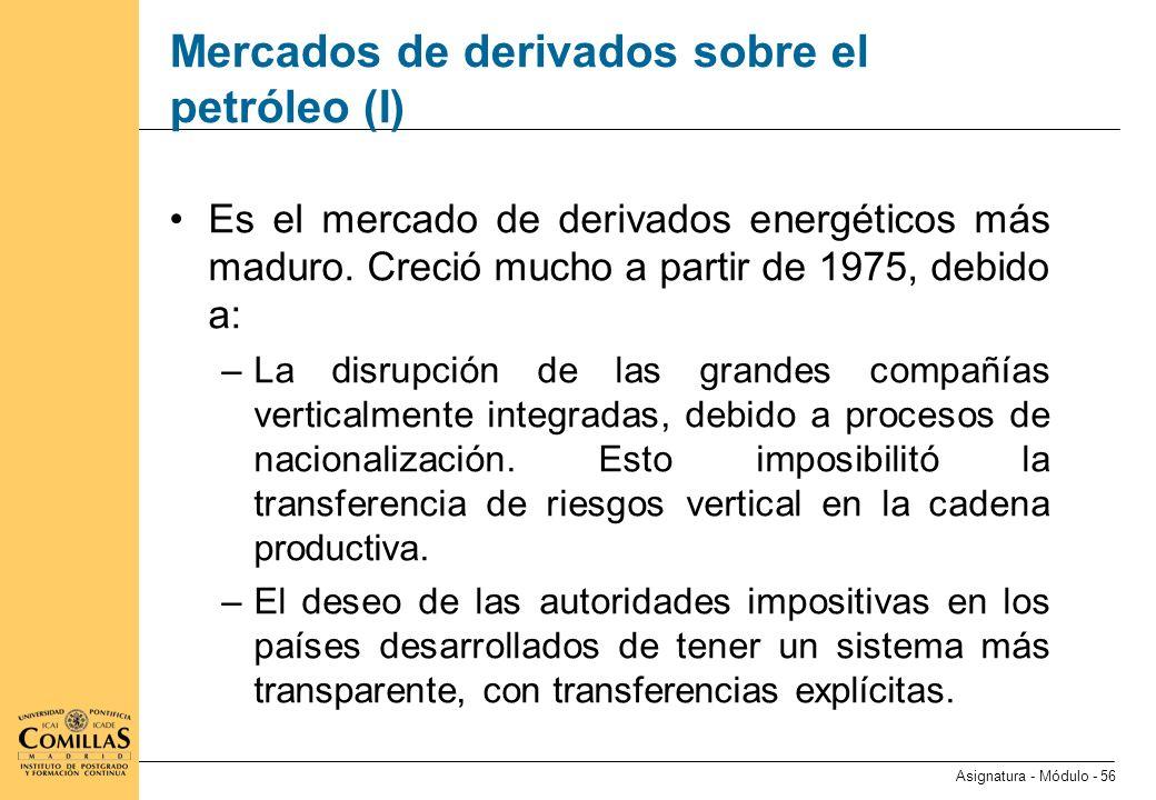 Mercados de derivados sobre el petróleo (II)