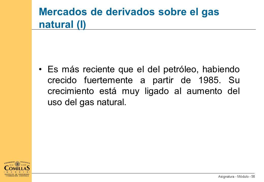Mercados de derivados sobre el gas natural (II)