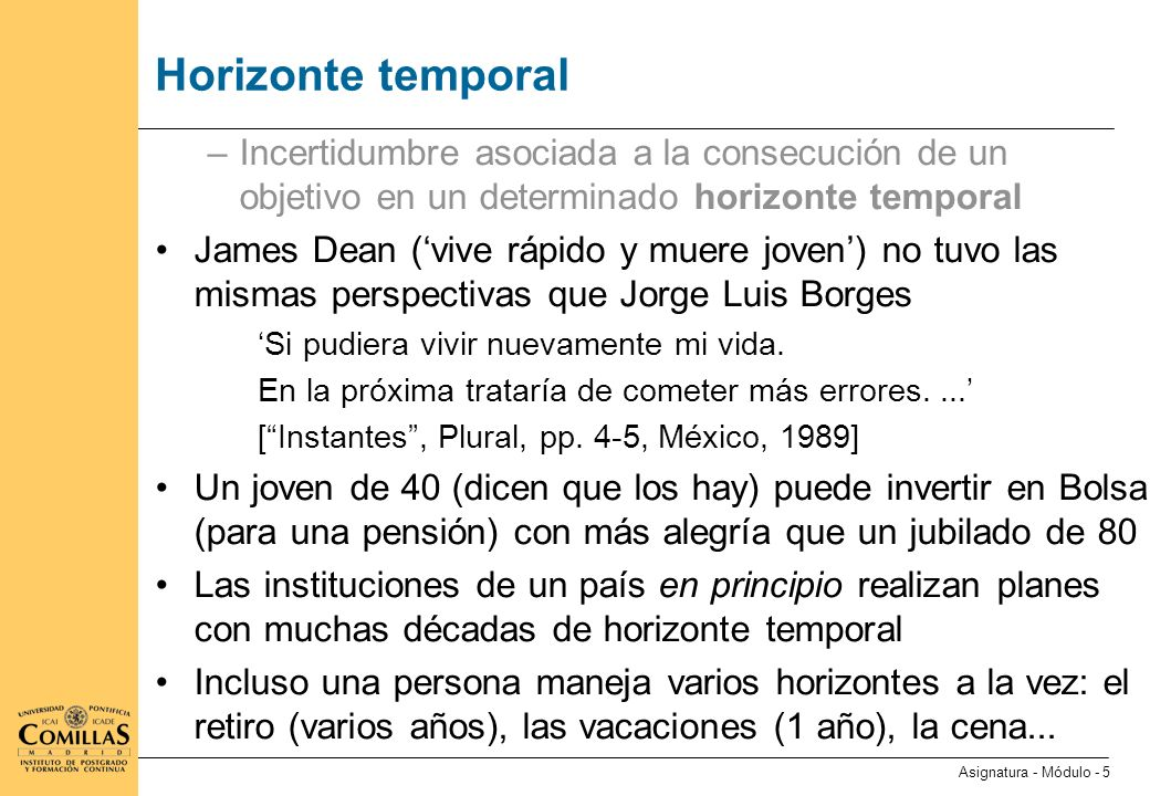 Horizonte temporal (ii)