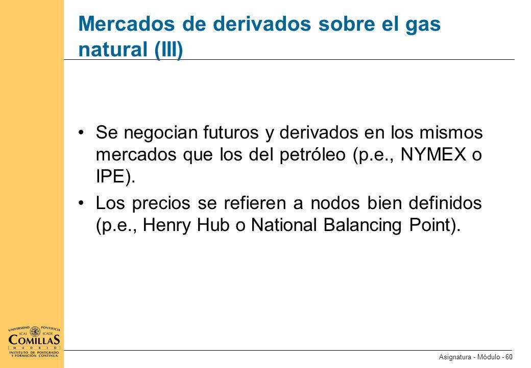 Mercados de derivados sobre el carbón (I)