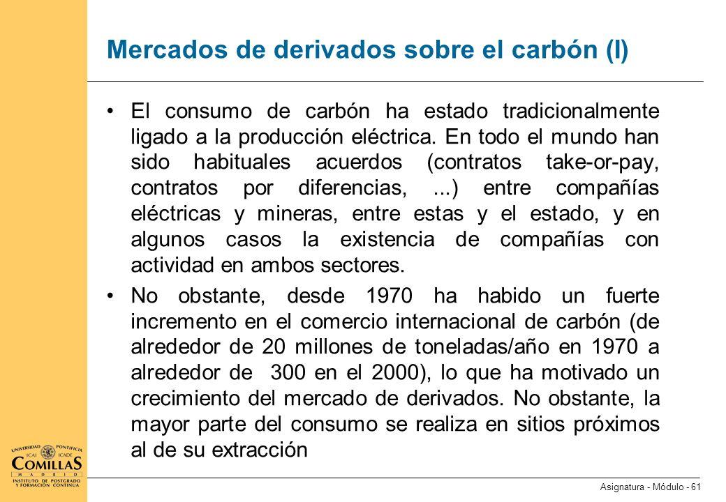 Mercados de derivados sobre el carbón (II)