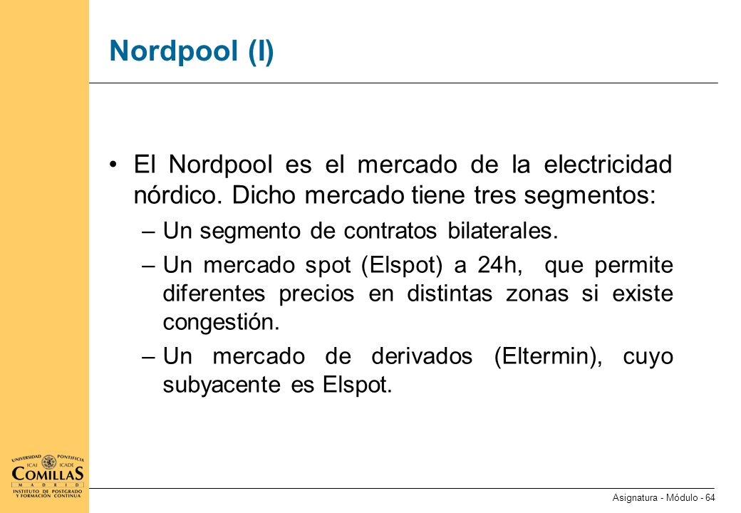 Nordpool (II) Description of Eltermin