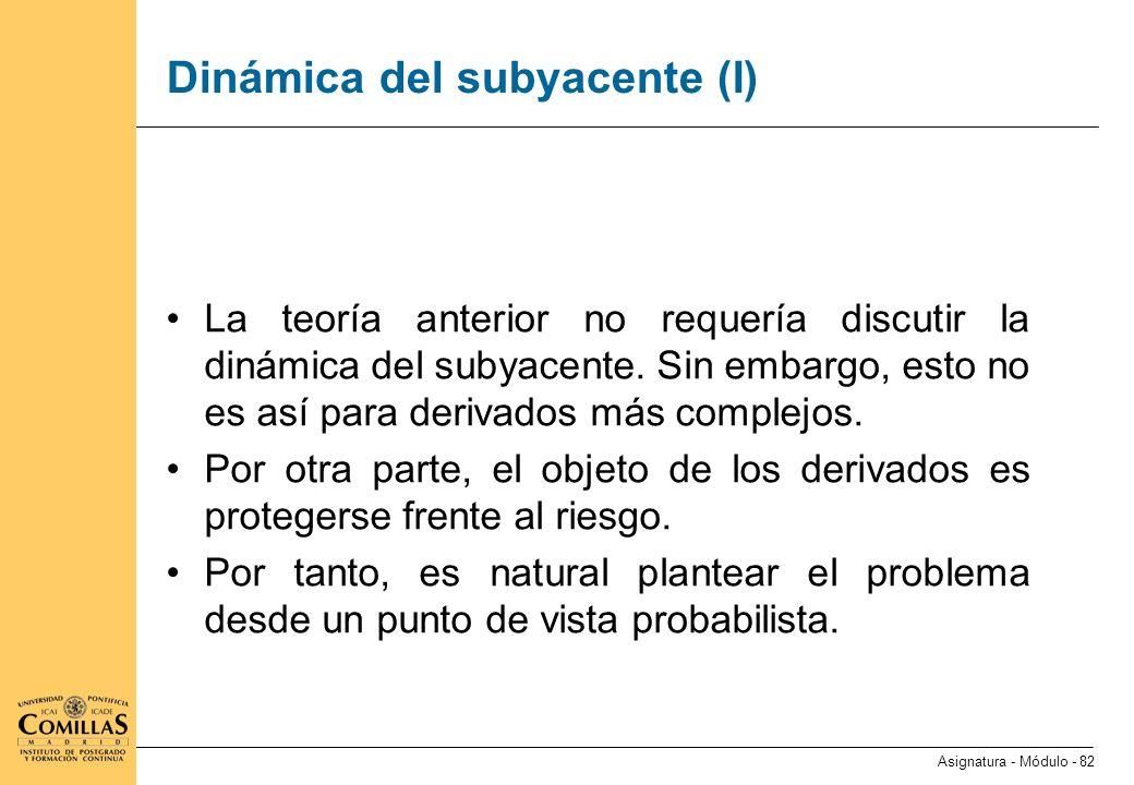 Dinámica del subyacente (II)
