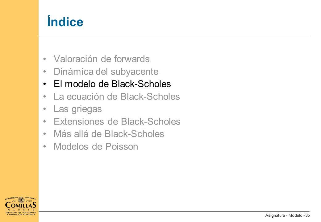 El modelo de Black-Scholes (I)