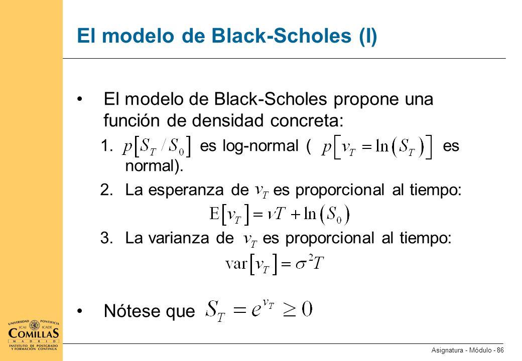 El modelo de Black-Scholes (II)