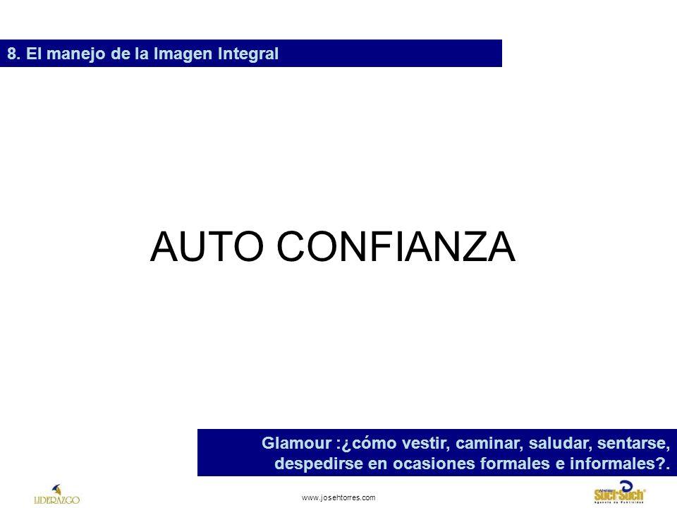 AUTO CONFIANZA 8. El manejo de la Imagen Integral