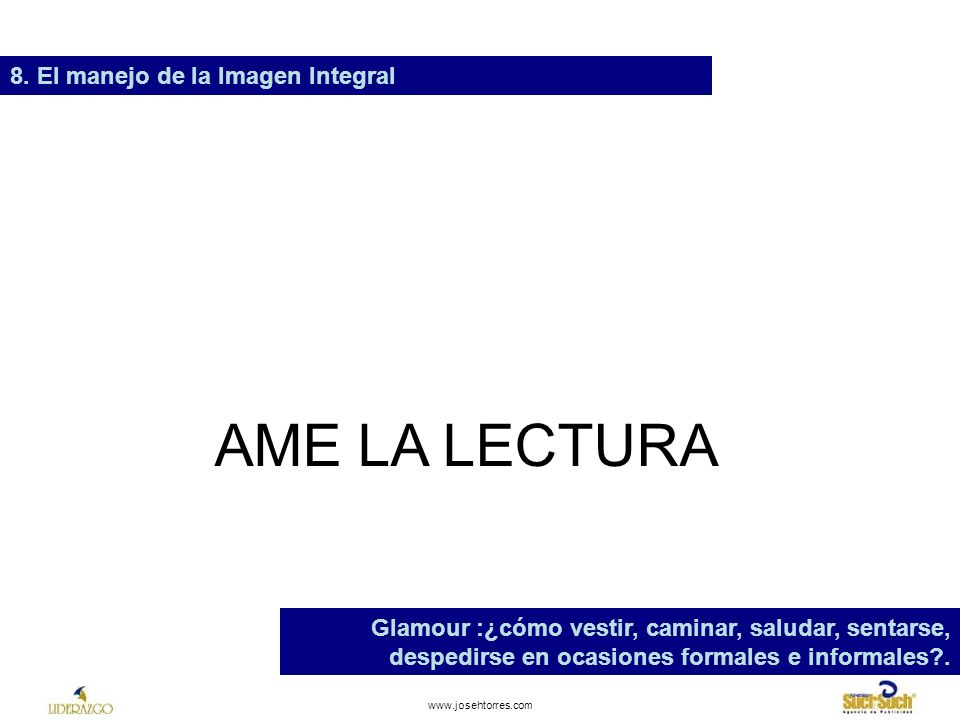 AME LA LECTURA 8. El manejo de la Imagen Integral