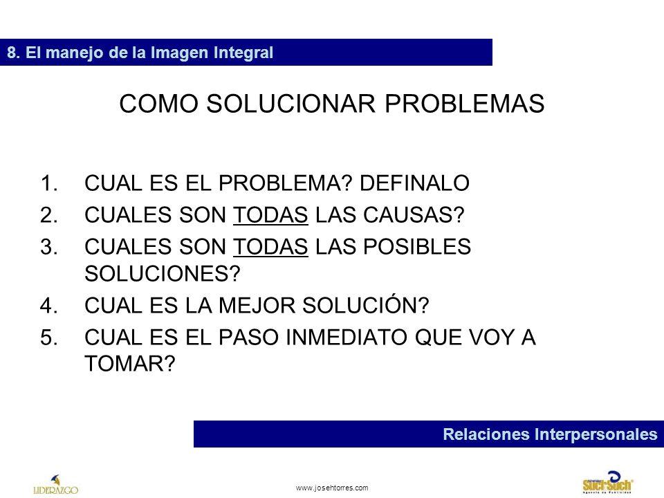 COMO SOLUCIONAR PROBLEMAS