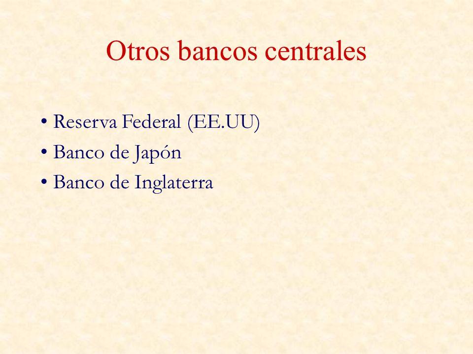 Otros bancos centrales