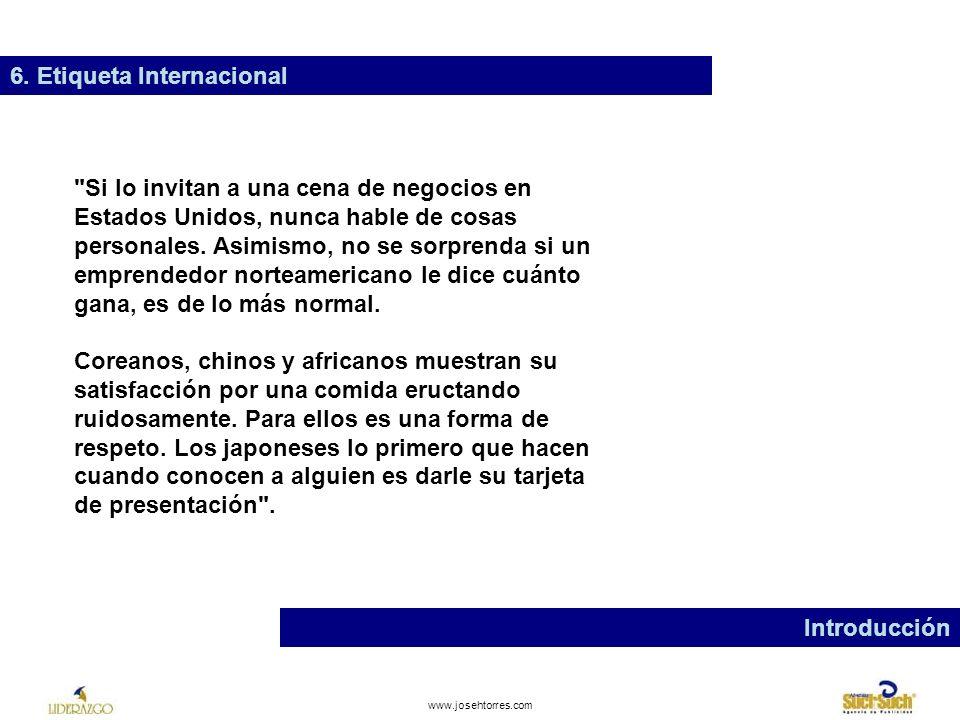 6. Etiqueta Internacional