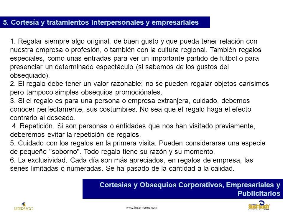 5. Cortesía y tratamientos interpersonales y empresariales