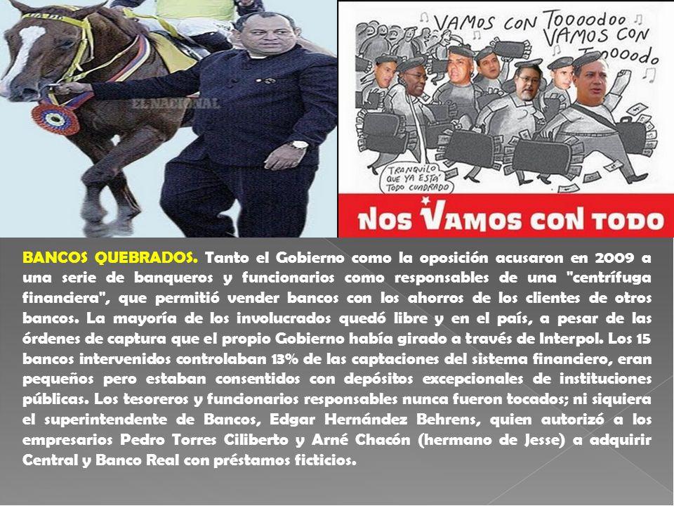 BANCOS QUEBRADOS.