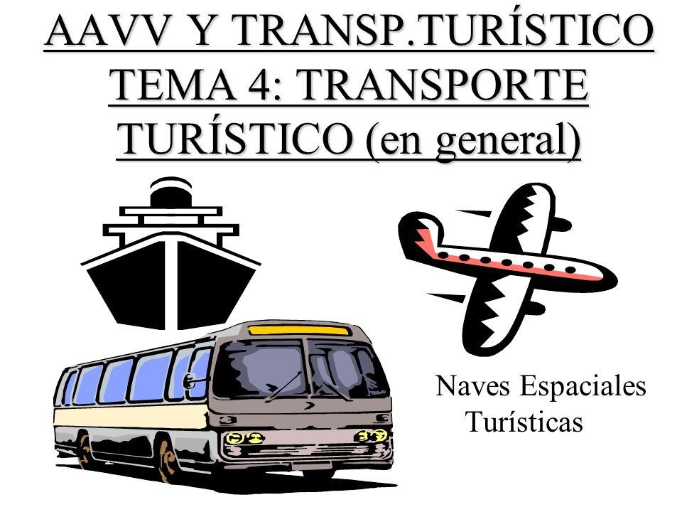 AAVV Y TRANSP.TURÍSTICO TEMA 4: TRANSPORTE TURÍSTICO (en general)