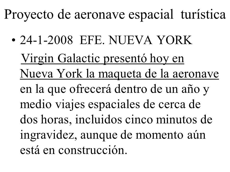 Proyecto de aeronave espacial turística