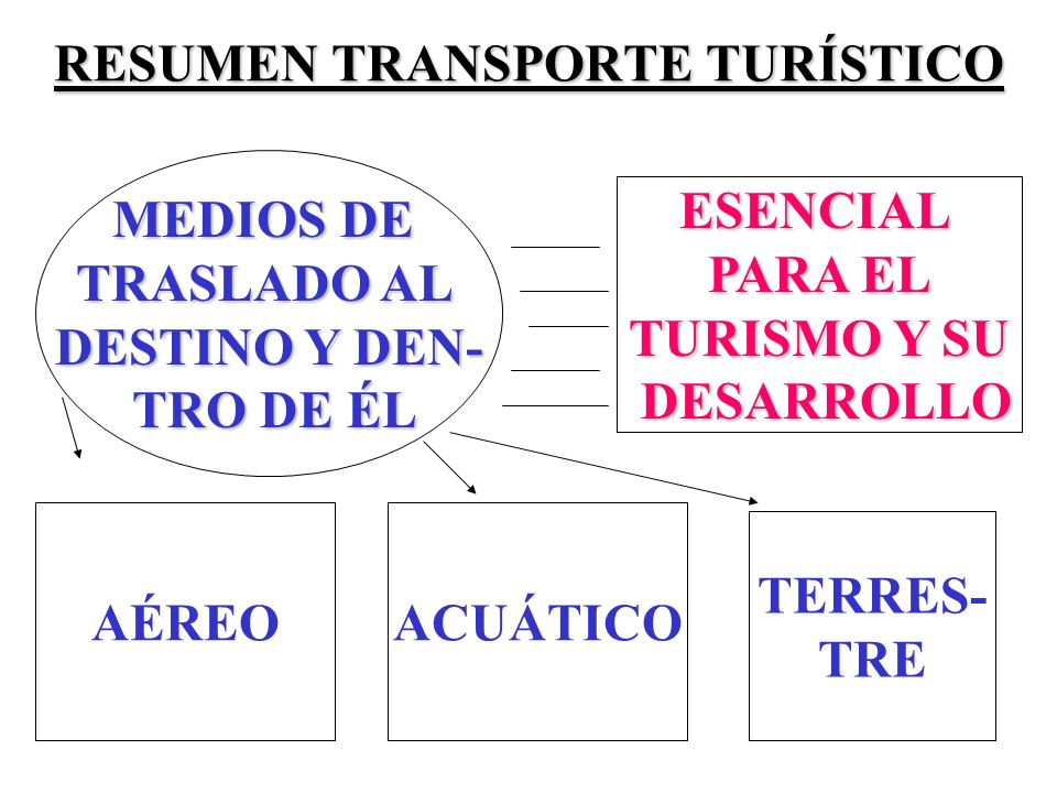 RESUMEN TRANSPORTE TURÍSTICO