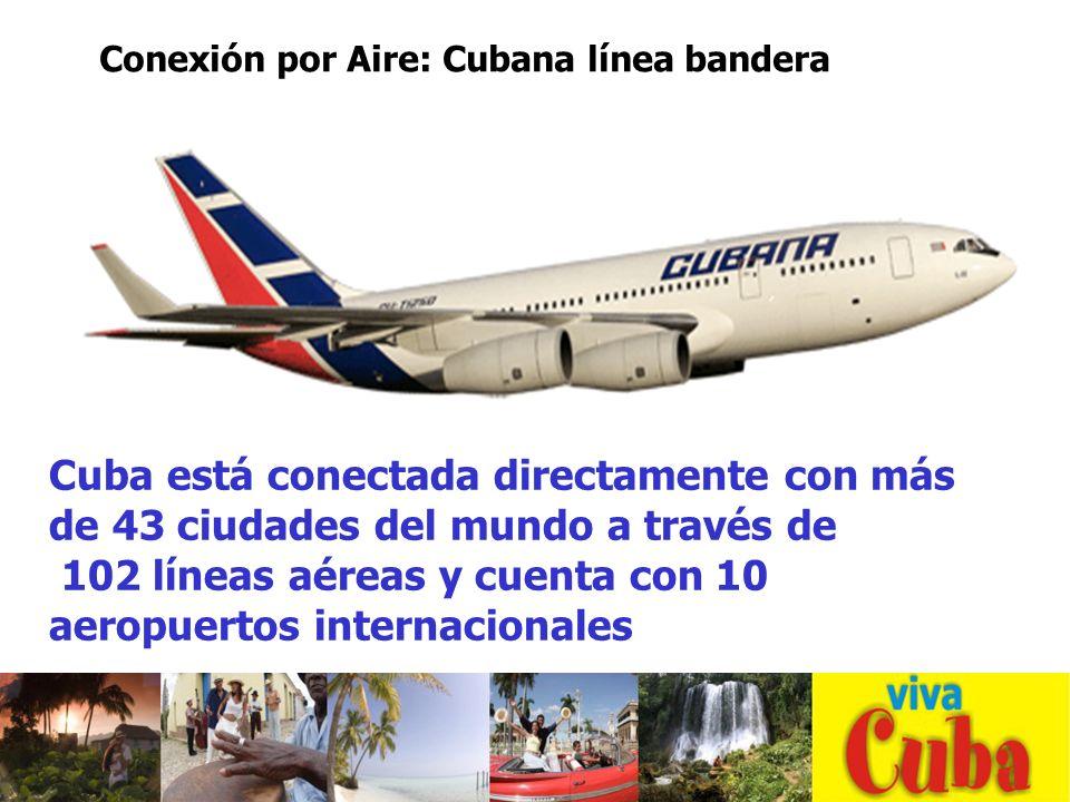 102 líneas aéreas y cuenta con 10 aeropuertos internacionales