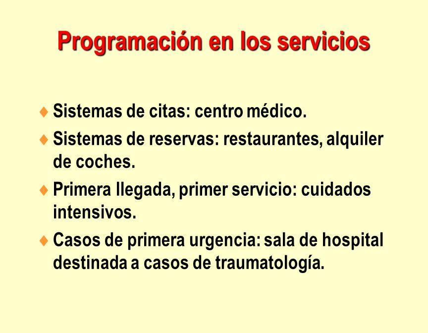 Programación en los servicios