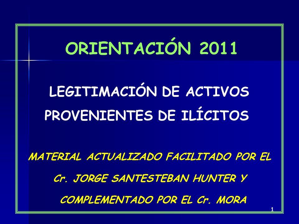 LEGITIMACIÓN DE ACTIVOS PROVENIENTES DE ILÍCITOS