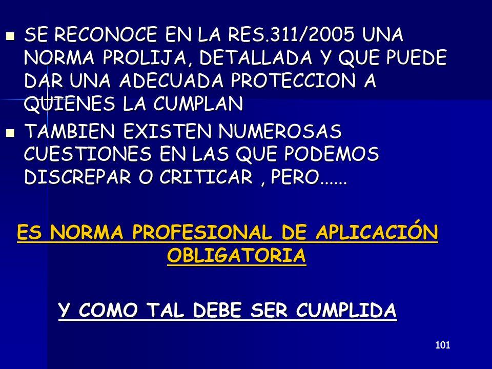 ES NORMA PROFESIONAL DE APLICACIÓN OBLIGATORIA