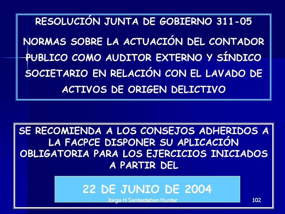 RESOLUCIÓN JUNTA DE GOBIERNO 311-05